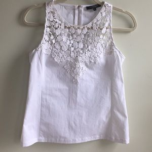 Nanette Lenore white top with lace size 4